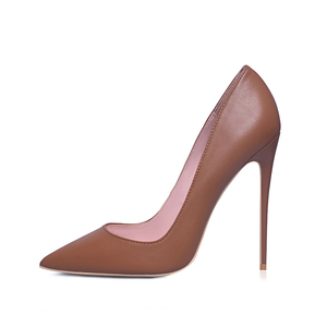 Image 5 - GENSHUO Sexy Nude Heels Pumps For Women 12CM High Heels Shoes Woman Stiletto Pointed Toe Womens Shoes Sexy Party Wedding Shoes