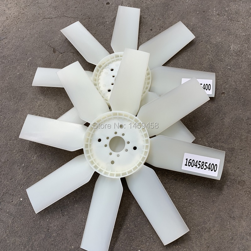 Free shipping 2pcs/lot OEM 1604585400 axial cooling fan blade for AC portable air compresor parts