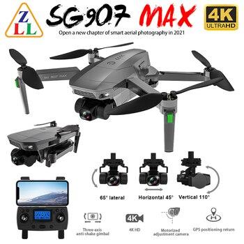 Zll sg907 max gps zangão 4k câmera 5g fpv wifi com 3 eixos cardan esc 25 minutos de voo sem escova rc quadcopter profesional dron 1