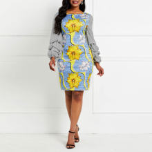 Винтажное женское платье миди с цветочным принтом элегантные