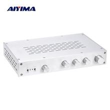 AIYIMA ハイファイクラス A プリアンプアンプ高音ミッドレンジ独立した音量リモコンプリアンプ 4 ウェイ入力ホームシアター