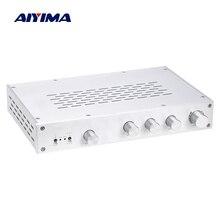 AIYIMA HiFi klasy A przedwzmacniacz wzmacniacz tonów wysokich klasy średniej bas niezależne Tone regulacja głośności przedwzmacniacz 4 sposób wejście kina domowego