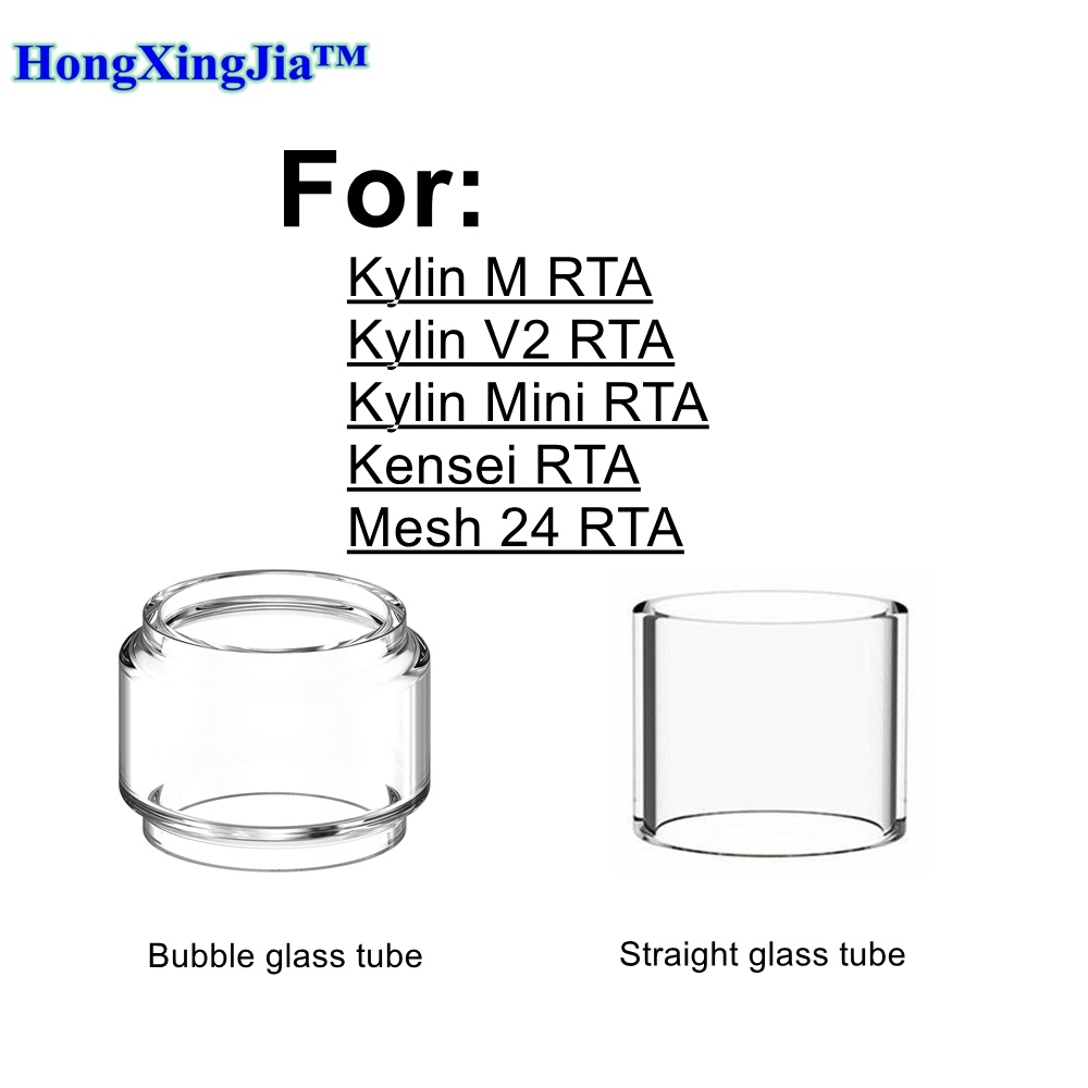 HXJVAPE Original Pyrex Bubble Bulb Glass Tube Tank Fit For Vandy Vape Kylin Mini V2 M Kensei Mesh 24MM MTL RTA Atomizer Tank