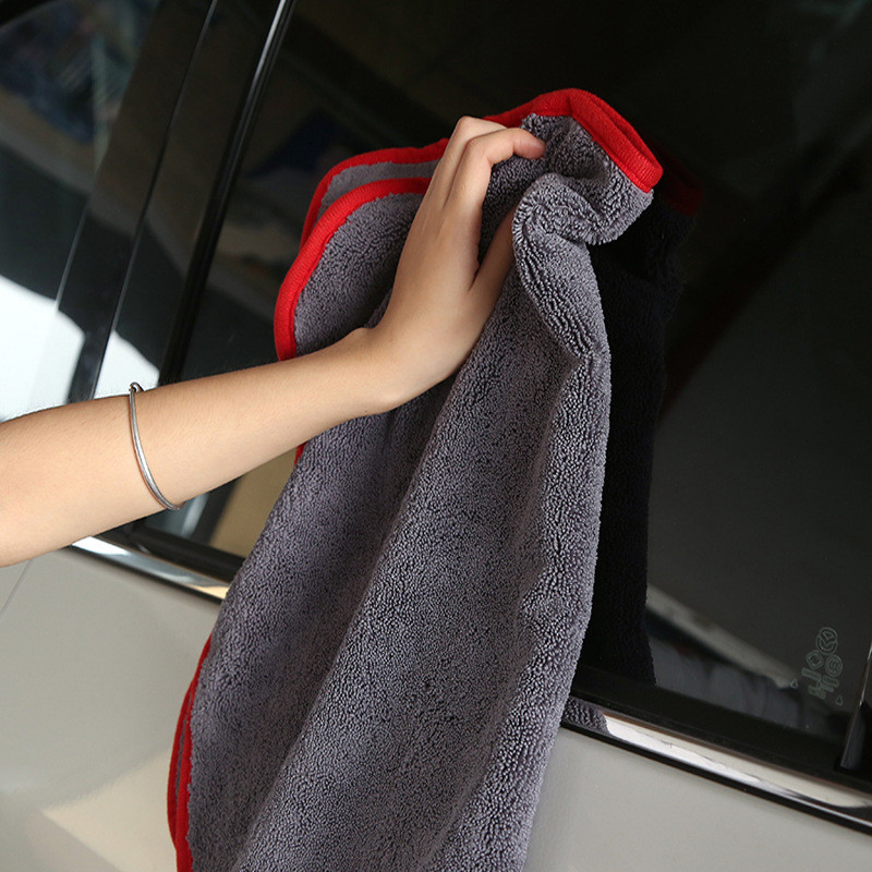 40X60cm Long Twist Pile Microfiber Drying Cloth Super Absorbent Swirl Free Towel For Paint Window High Dying Performance