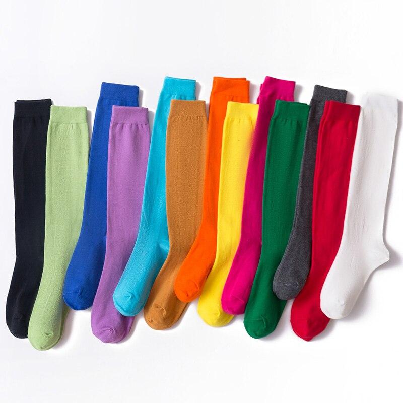 Calcetines largos hasta la rodilla para mujer, medias informales, hasta la rodilla, venta al por mayor
