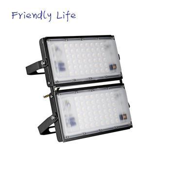 100W Ultra-thin Aluminium Alloy Module Light 220V Super Bright 10000LM Floodlights IP65 Waterproof Warm White Lighting