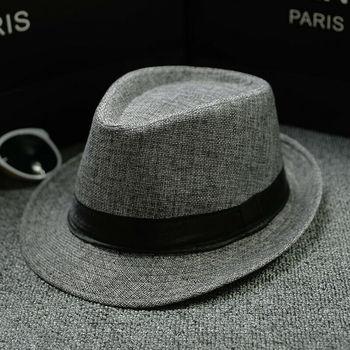 ¡Novedad de 2020! Sombrero Trilby Fedora de paja para hombre y mujer, sombrero Casual sólido para el sol del verano, sombrero Panamá para la playa