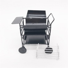 1 12 dollhouse mini Outdoor garden square cart oven trolley model BBQ Grill Iron Decoration kitchen cart dollhouse furniture cheap NewBiFo Unisex age 3+ forest animal family 2-4 Years 5-7 Years 6 years old 8 years old 3 years old 14 years old