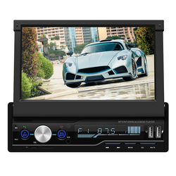 Hot selling 7 inch telescopic car MP4 player foldable display supports Bluetooth call reversing image MP3 radio