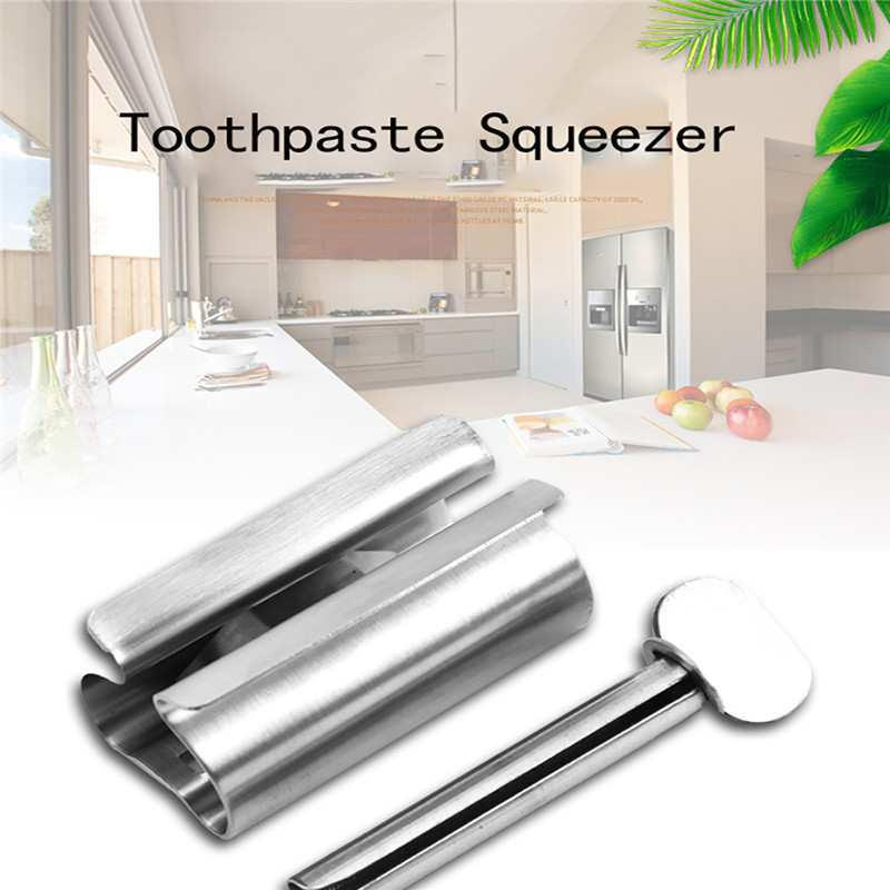 Bathroom Products Stainless Steel Manual Toothpaste Squeezer Toothpaste Tube Squeezer Bathroom Accessories