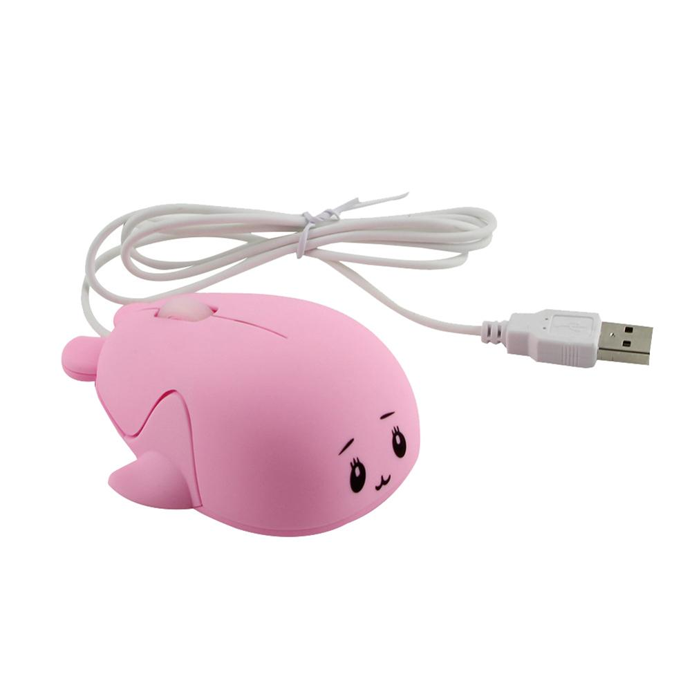 New Arrival 1200DPI Cute Mini Whale Ergonomic PC Laptop USB Wired Optical Gaming Mouse Mice