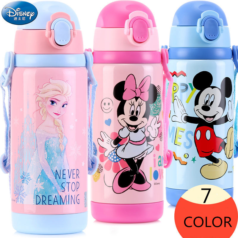 400ML 500ML Disney Mickey Minnie Cartoon Water Cup Outdoor Portable Anti-leakage Kettle Mummy Feeding Baby Bottle School Bottle