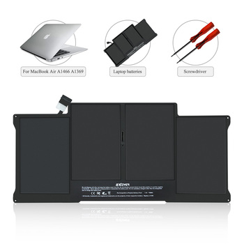 SKOWER A1405 Battery For Apple Macbook Air 13 inch A1369 (2010-2011) A1466 (2012-2017) , Replacement A1496 A1377 50Wh