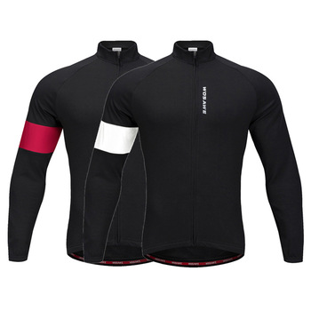 цена на WOSAWE Men's Cycling Motobike Jackets Fleece Thermal Jersey Long Sleeves Keep Warm Jacket Autumn Winter Women Cycling Bike Coats