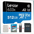 Lexar 633x micro sd карта gopro карта памяти tarjeta micro sd 512 ГБ carte memoria microsd флэш-карта TF карта mikro sd смартфон