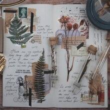 Винтажные осенние растения цветы пуля журнал декоративные наклейки дневник стационарный японский альбом стикеры Скрапбукинг
