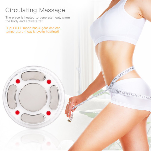 Rechargeable RF Cavitation Ultrasonic Slimming Anti-Cellulite Vibration Women Fat Burner Massager Weight Loss Body Shaping LED 1