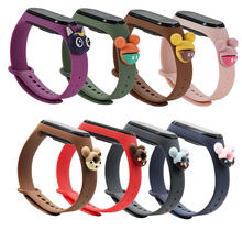 For Mi band 4 3 cartoon Bracelet Smart Watch Strap Replaceable For Xiaomi Mi Band 5 4 Strap silicone Bracelet Sport Wristband