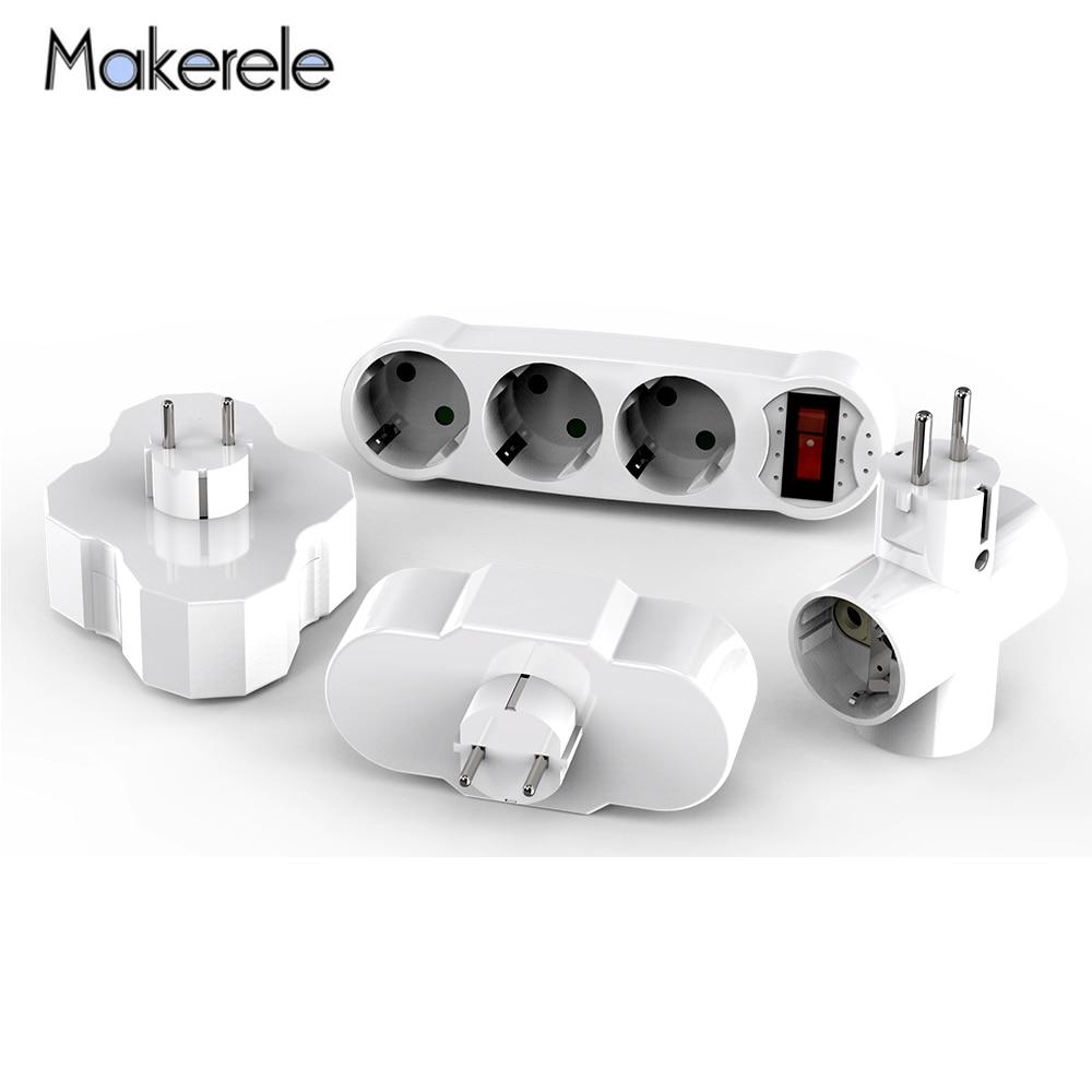 16A AC 110v-250v Conversion Socket ABS EU Standard Standing Style Power Adapter Socket Converter Extended Socket Wireless