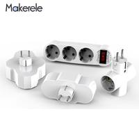 Toma de corriente de 16A AC 110v-250v, convertidor de toma de corriente estándar de la UE, inalámbrica, ABS