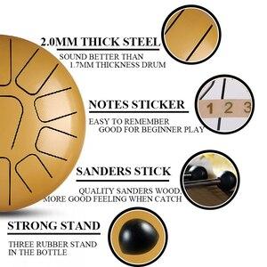 Image 2 - 12 дюймов 11 нот стальной язык барабан музыкальные ударные инструменты ручная сковорода барабанные барабаны клещи ударные