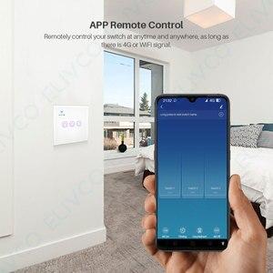 Image 4 - חכם WiFi מתג 3 כנופיית זכוכית פנל אור מגע מתג RF433 חכם חיים Tuya APP שלט עובד עם Alexa google בית