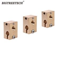 Heat-Block Steel Nozzle Hardened V6 Brass Hotend V6 3d-Printer-Parts Titan Extruder Origina