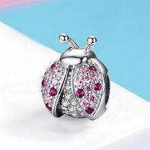 CodeMonkey 100% Real 925 Sterling Silver Ladybug Beads Fit Original Pandoras Bracelet Charms For Women DIY Jewelry CMC1120(China)