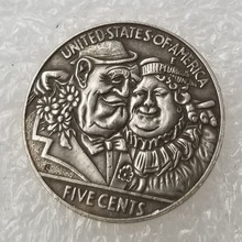 love couple US Hobo 1915 Morgan 5 cents Silver Plated Copy Coins old Gift for collection drop shipping