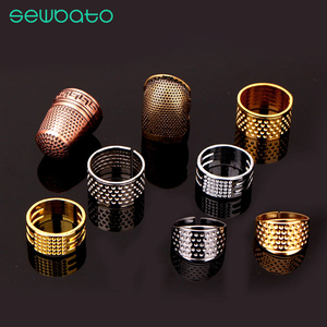 SEWBATO, 1 pieza, Retro, Protector de dedo, dedal, anillo de trabajo manual, aguja de dedal, artesanía, hogar, herramientas de costura, accesorios
