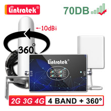 Lintratek четырехдиапазонный усилитель сигнала сотового телефона B20 800 900 1800 2100 2600 850 ретранслятор GSM 2G 3G 4G LTE 70dB сотовый усилитель