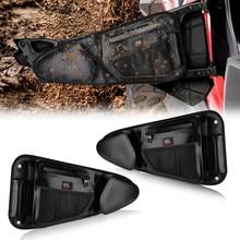 KEMIMOTO UTV RZR yastığı TPU 900D su geçirmez siyah yan kapı çanta Polaris RZR 1000 XP XP4 S 900 Turbo hava geçirmez fermuar