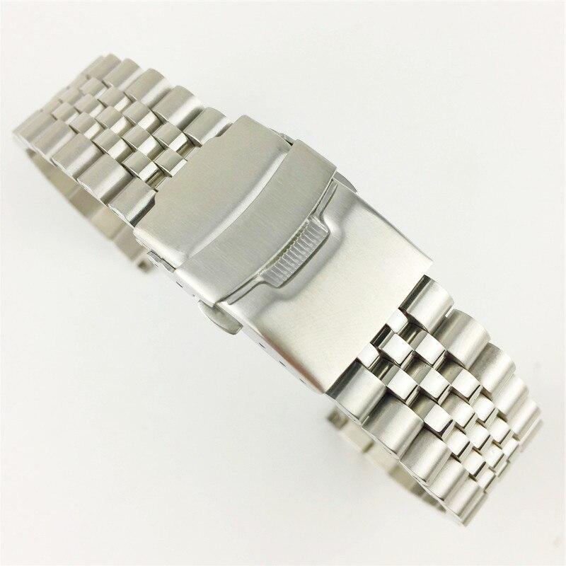 Ремешок для часов мужской, из нержавеющей стали, с Т образной застежкой, 18/19/20/22/23/24/26/28/30 мм|Ремешки для часов|   | АлиЭкспресс