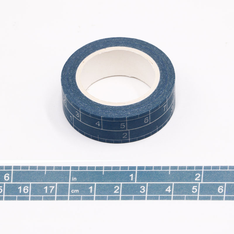 1PC 15MM*10M Size Tape Measure Designs Washi Tape Wide Sticky Adhesive Tape Scrapbooking Album DIY Decorative Paper Tape