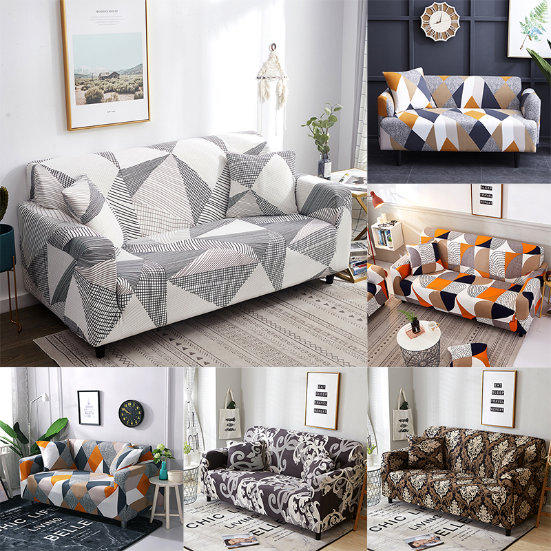Slipcover Non-slip Elastic Sofa Covers Polyester Four Season All-inclusive Stretch Sofa Cushion Sofa 1/2/3/4-seater