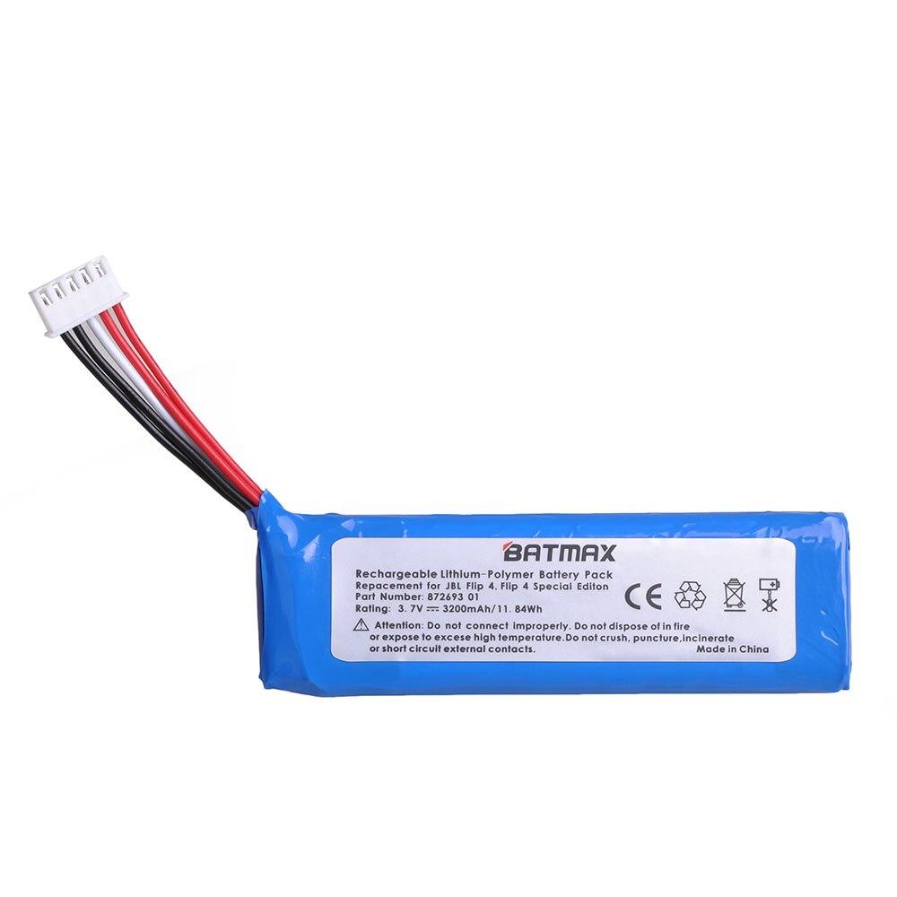 Batmax Replacement Battery 3200mAh For J BL Flip 4, Flip 4 Special Edition