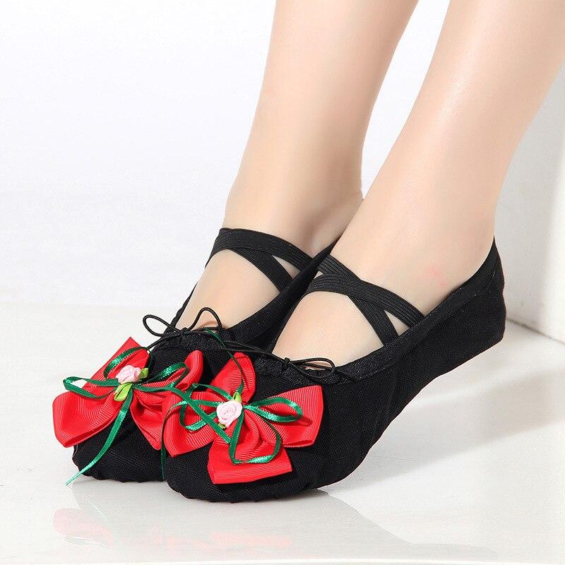 Zapatos de Ballet para niños adultos zapatos de baile de fondo suave para niñas zapatos de Ballet de Yoga - 3