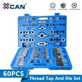 XCAN 110 stücke Metrischen Tap Sterben HSS Schraube Tap Bohrer Hand Stecker Tippen Schlüssel Threading Werkzeuge Tippen und Sterben Set-in Gewindebohrer aus Werkzeug bei