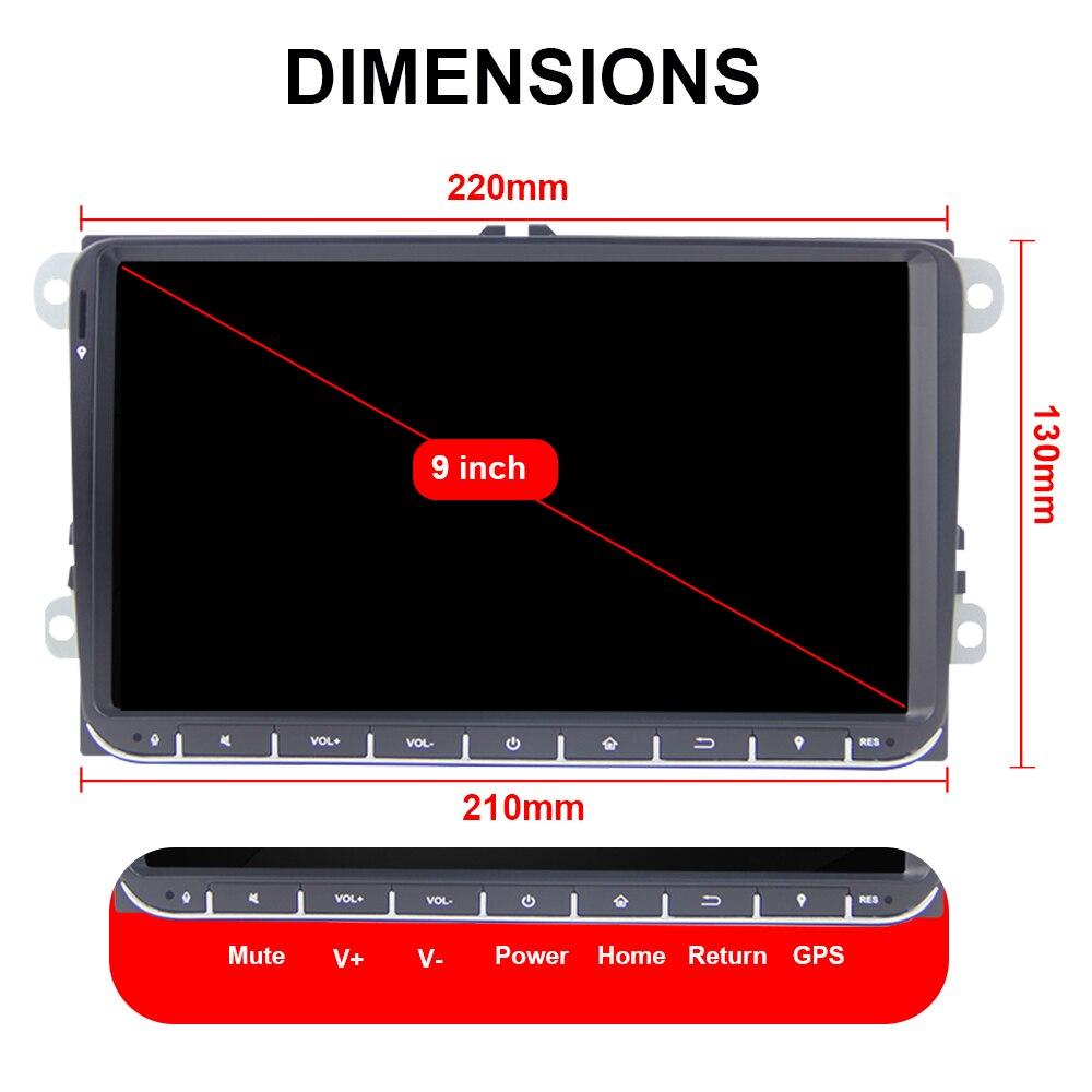 Eunavi 2 din Android 9 Auto Radio stereo GPS für VW Passat B6 CC Polo GOLF 5 6 Touran Jetta tiguan Magotan Sitz Multimedia player