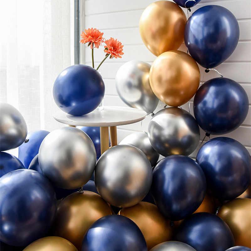 15 قطعة البحرية الأزرق بالون الأزرق الداكن الياقوت بالون حفل زفاف وعيد ميلاد الديكور استحمام الطفل اللاتكس بالون
