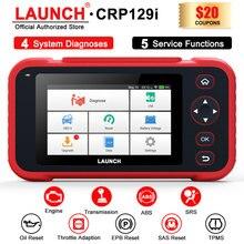 เปิดตัว CRP129i OBD2เครื่องสแกนเนอร์ Professional SAS SRS EPB รีเซ็ตน้ำมันบริการ OBD2ผู้อ่านรหัสเครื่องสแกนเนอร์รถยนต์ Diagnostics เครื่องมือ