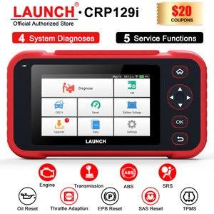 Image 1 - LAUNCH – outil de diagnostic automobile professionnel CRP129i, lecteur de Code OBD2, SAS, SRS, EPB, Service de réinitialisation de lhuile