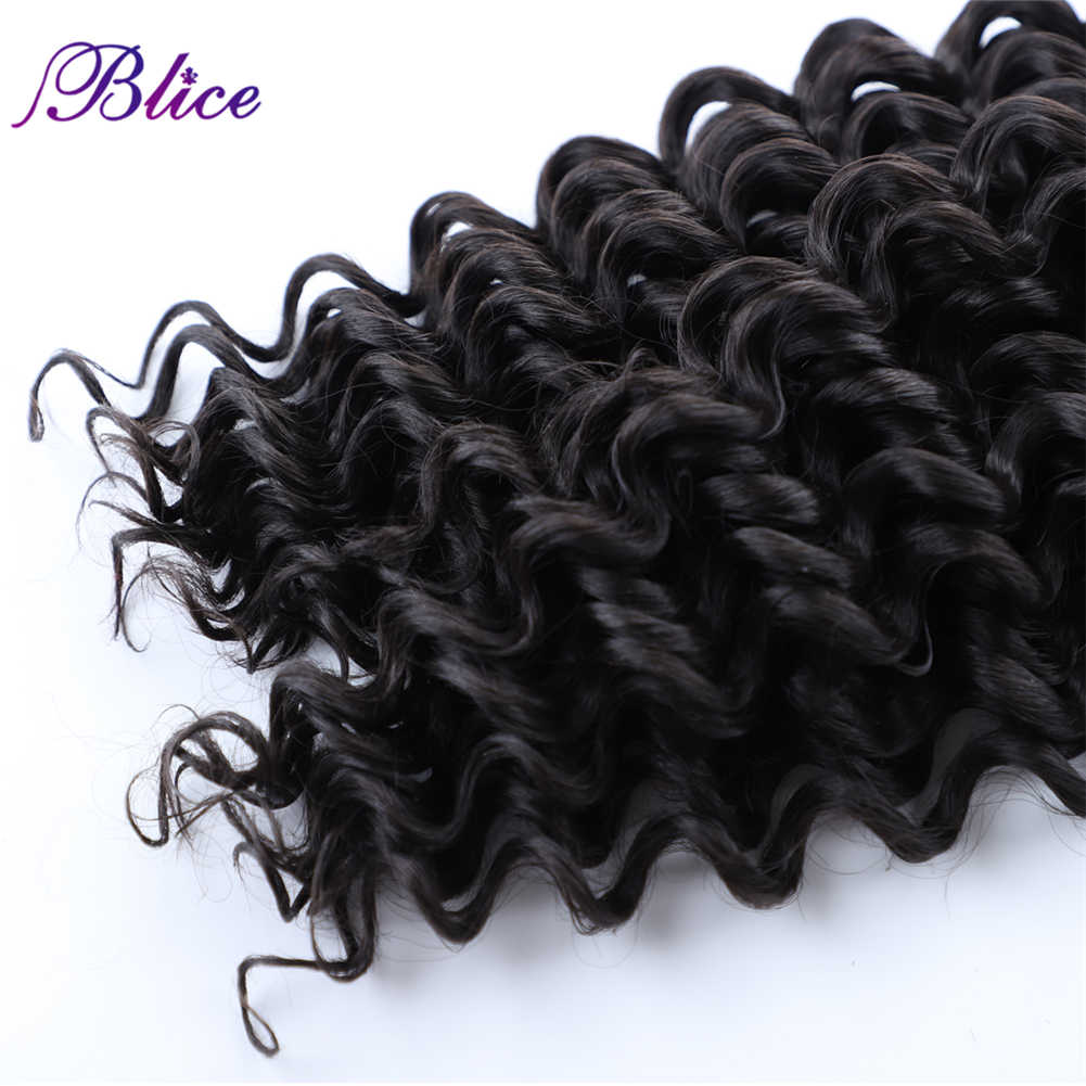 """Blice syntetyczne doczepy do włosów bez wątku luzem pasma kręconych włosów 18 """"-24"""" 1 sztuk natura kolor szydełka włosy plecione dla kobiet"""