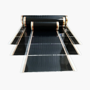 Image 4 - 50 Square Meters Electric Floor Heating Mat Infrared Radiant Heat Film Mat with Wifi Room Thermostats Clamps
