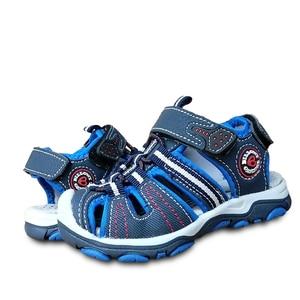 Image 3 - 新デザイン 1 ペア少年子供ビーチサンダルの革の靴、レジャーの子供靴