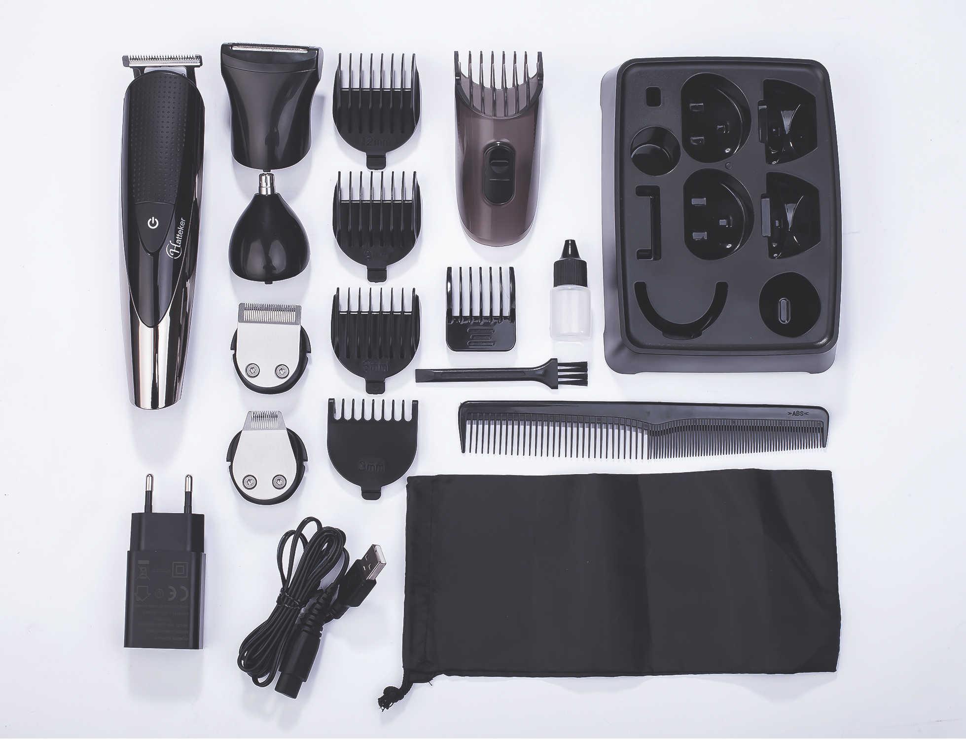 Surker 5 In 1 Elektrische Haar Trimmer IPX5 Wasserdicht Männer Haarschnitt Maschine Professionelle Barber Wiederaufladbare Haar Clipper SK-0068