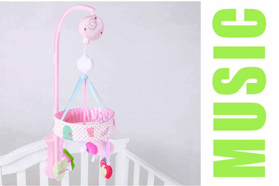 sensoriais recém-nascido girando cama sino brinquedo de pelúcia