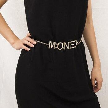 Lateefah Cadena de cintura personalizada sexi joyería de cuerpo moda Bikini oro diamantes de imitación circonio cintura Chian para mujeres cadena del vientre personalizar
