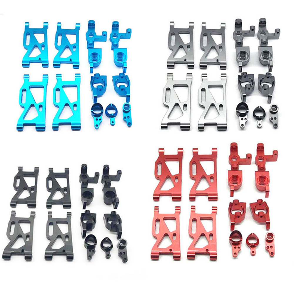 Metal RC Model Car Steering Cup Replacement Front Rear Wheel Swing Arm For WLtoys 144001 RC Car Upgrade Parts