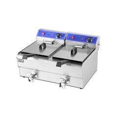 Podwójny cylinder elektryczna maszyna do smażenia handlowa elektryczna smażalnica frytki frytkownice do smażenia przekąsek 26L
